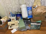 Large Lot of Sewing Items, Sewing Machine & Misc Items