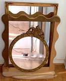 Mirror Lot with Wooden Mirror Frame