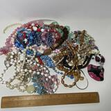 Large Lot of Vintage Beads & Misc Jewelry