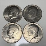Lot of 4 - 1971 & 1974 Kennedy Half Dollars