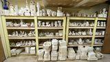 Wall FULL of Misc Unpainted Ceramics & Misc Ceramic Molds
