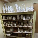 Wall FULL of Misc Unpainted Ceramics