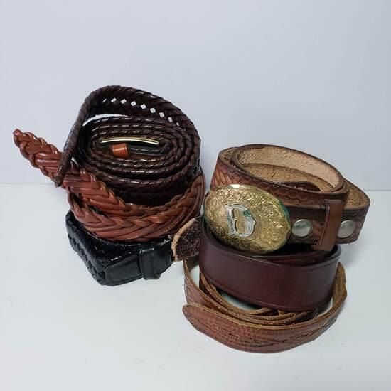 Vintage Men's Leather Belt Lot of 6