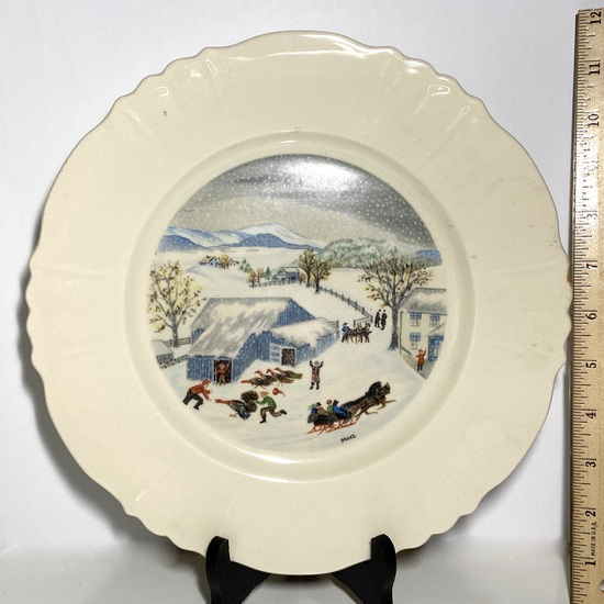 """Grandma Moses"" Thanksgiving Turkey Limited 1st Edition Plate"
