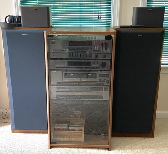 Sony Stereo Cabinet with 4 Speakers