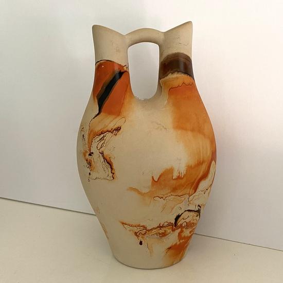 Tall Native American Pottery Wedding Vase Signed on Bottom Nemadji