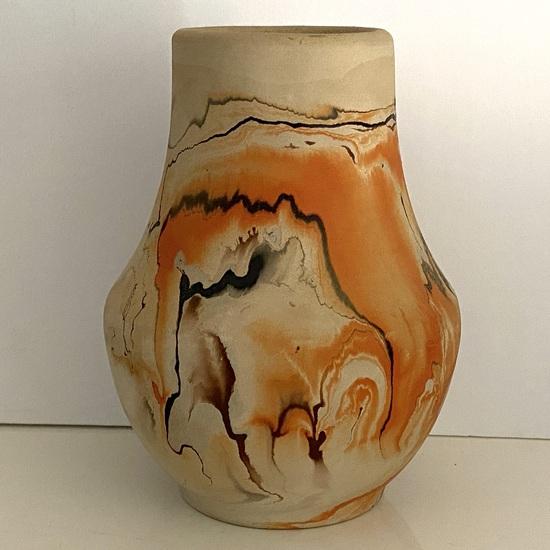 """Native American """"Nemadji"""" Pottery Vessel Signed on Bottom"""
