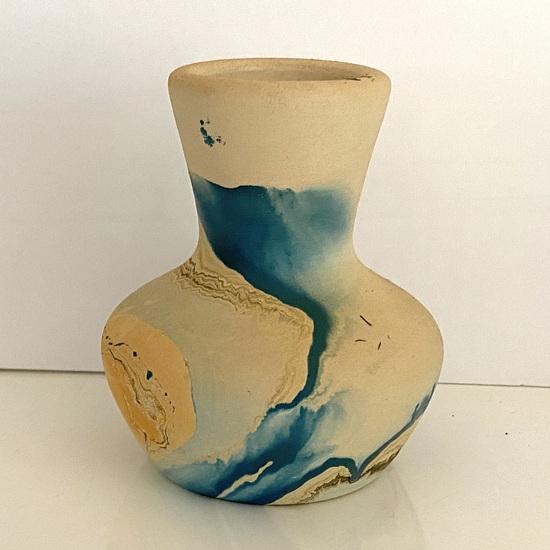Small Nemadji Pottery Native American Vessel Signed on Bottom