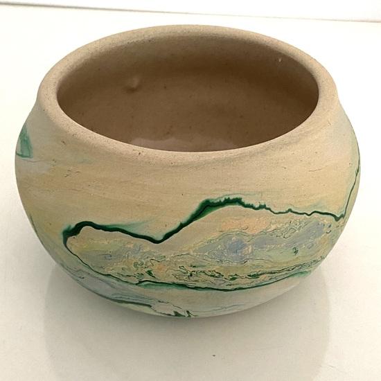 Short Signed Nemadji Pottery Native American Vessel Signed on Bottom