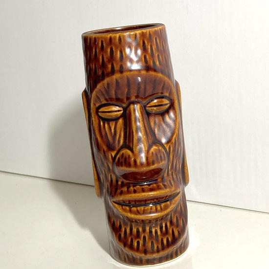 Hawaiian Tiki Pottery Vessel Signed on Bottom Made in Japan