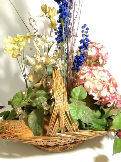 Artificial Flower Arrangement in Basket