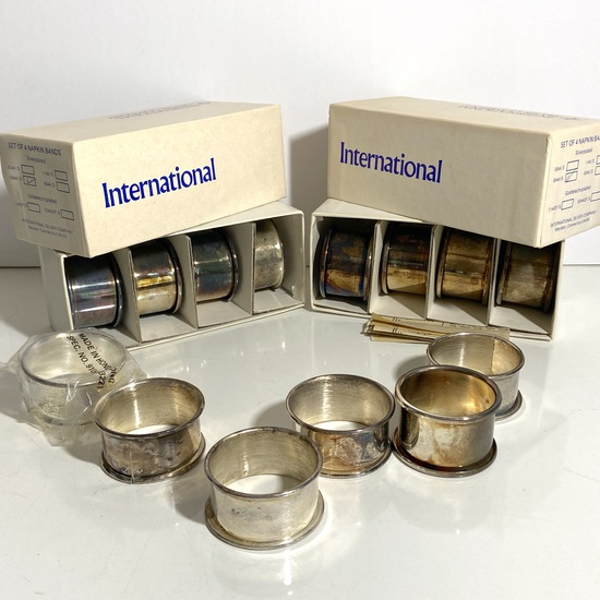 Lot of International Silver Plated Napkin Rings