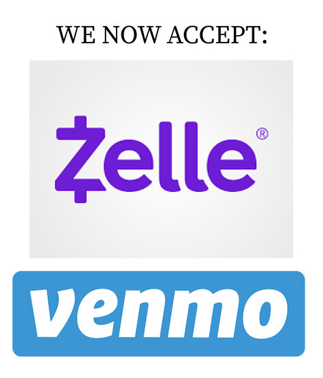 3% Discount When Paying By Venmo, Zelle, Cash or Bank Transfer