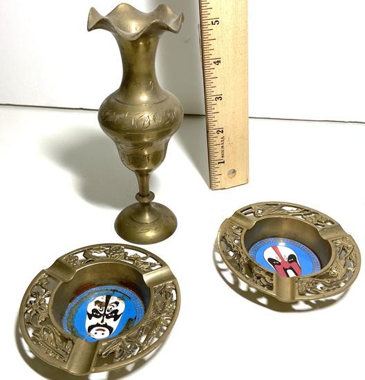 3 pc Vintage Brass Lot