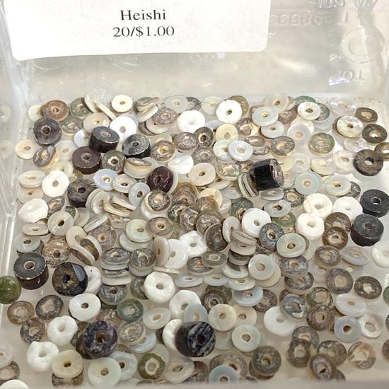 Lot of Natural Heishi Puka Shell Beads