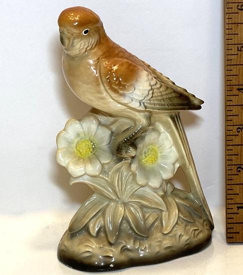Porcelain Parakeet Figurine