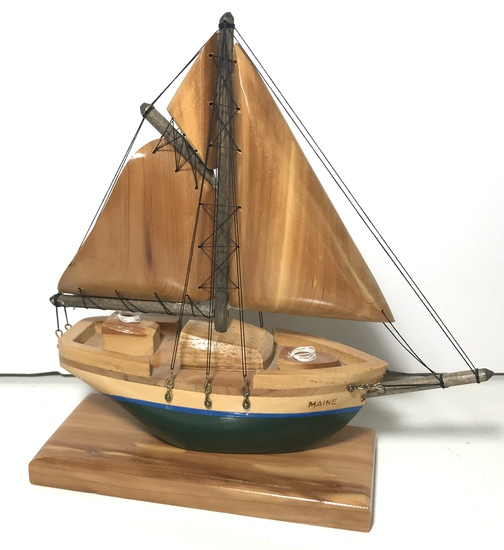 Maine Wooden Sailboat Model