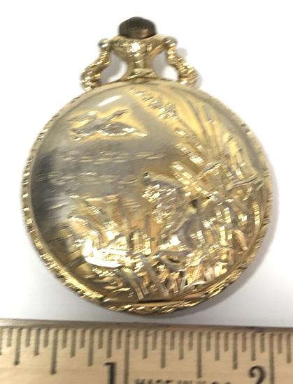 Gold Tone Majestime 17 Jewel Gold Pocket Watch
