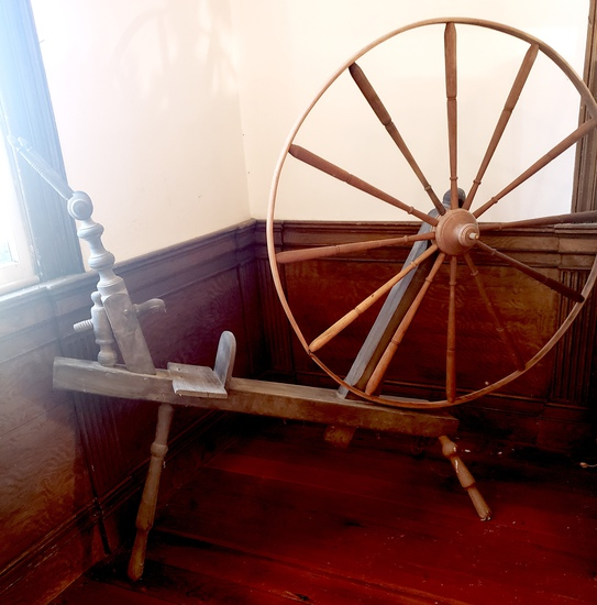 Primitive Wooden Spinning Wheel