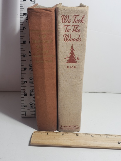 Lot of 2 1942 Books, Old McDonald Had A Farm, We Took To The Woods