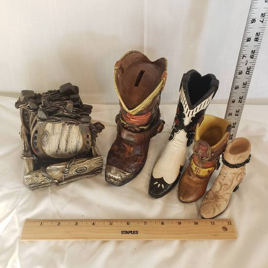 Western Collection, Resin Coasters and Boots