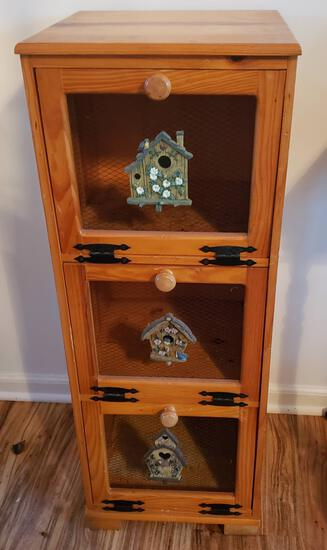 Vintage Cabinet with Wire Front