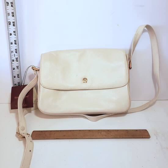 Leather Beige Aigner Purse with Original Tags