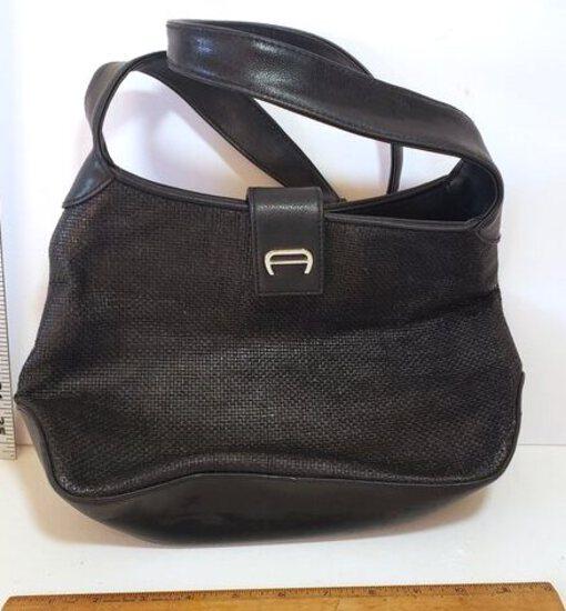 Vintage Aigner Black Shoulder Bag