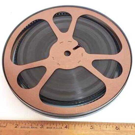 Vintage Movie Reel In Metal Case