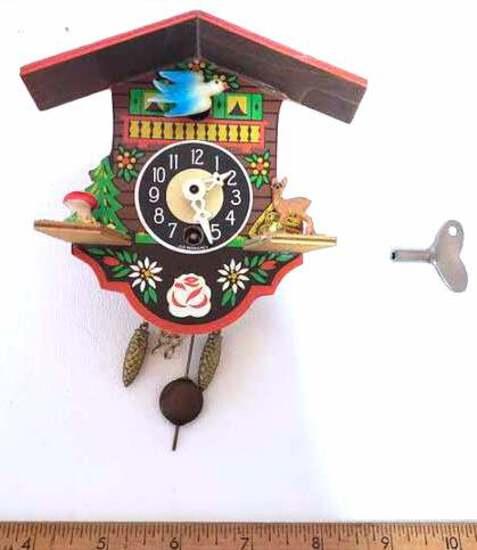 Vintage Miniature Cuckoo Clock