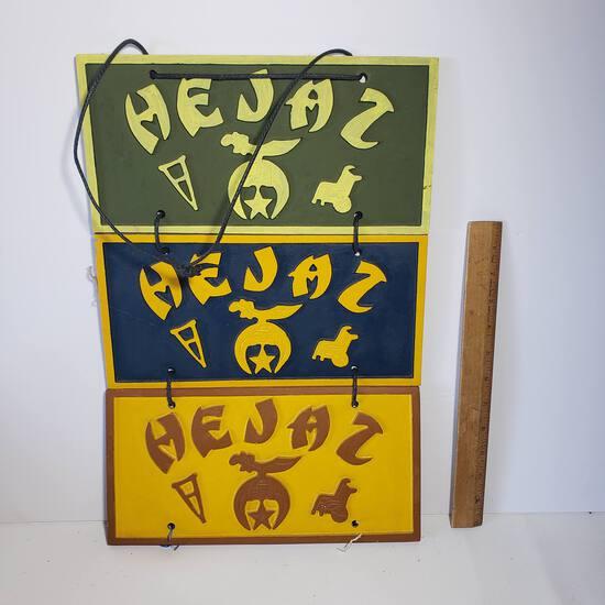 Cast Iron Hejaz Plaques
