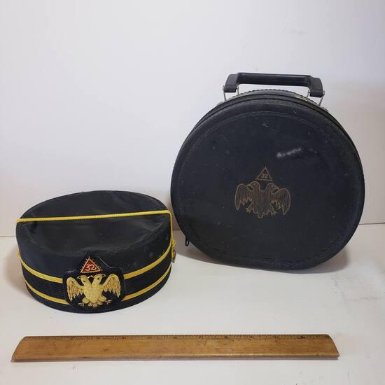 D.Turin & Co Masonic Hat In Case