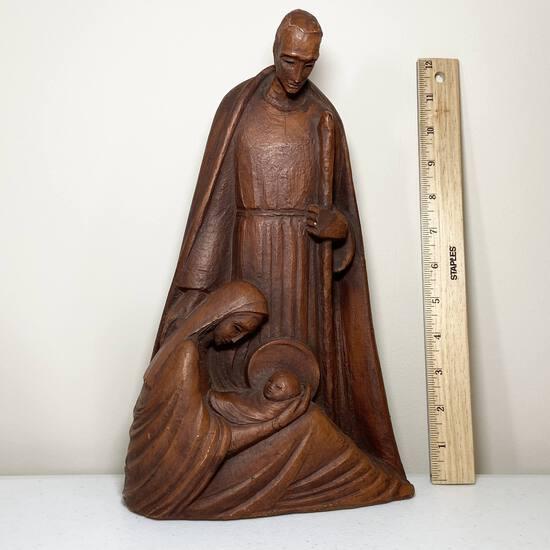 Tall Clay Nativity Sculpture by The Grail, Grailville Loveland Ohio