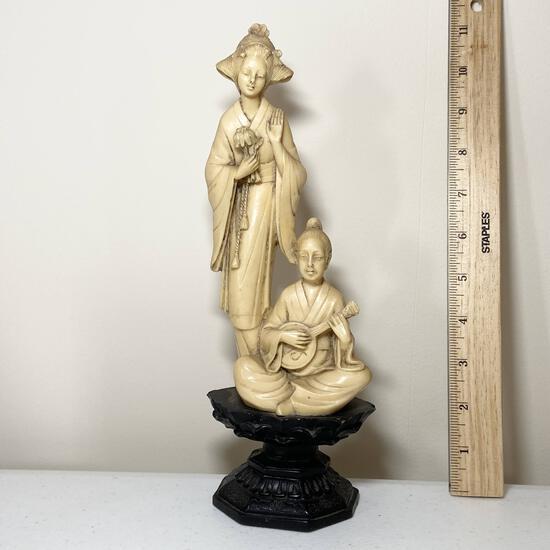 Vintage Oriental Carved Statue