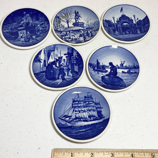 6 pc Royal Copenhagen Blue & White Dishes
