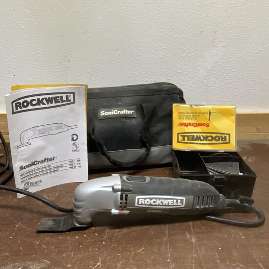 Rockwell SoniCrafter Oscillating Tool with Canvas Case & Accessories