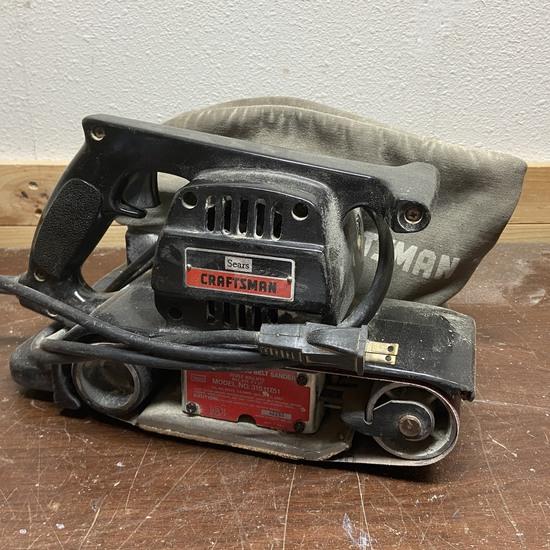 """Craftsman 3"""" Dustless Belt Sander Model No 315.11751"""