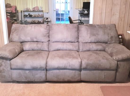 Dual Reclining Microfiber Sofa