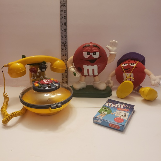 M&M's Collection, Phone, Dispenser, Plush, Cards