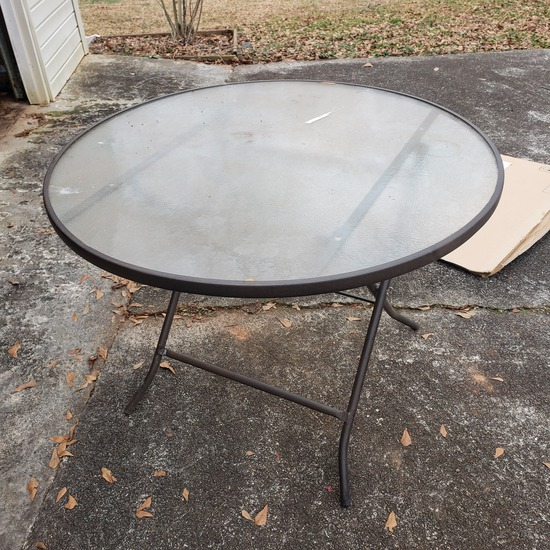 Mainstays Folding Glass Top Patio Table
