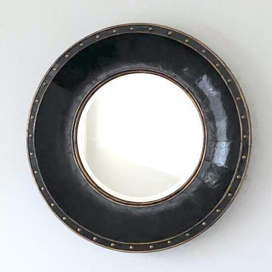 Round Decorative Wall Mirror with Thick Frame