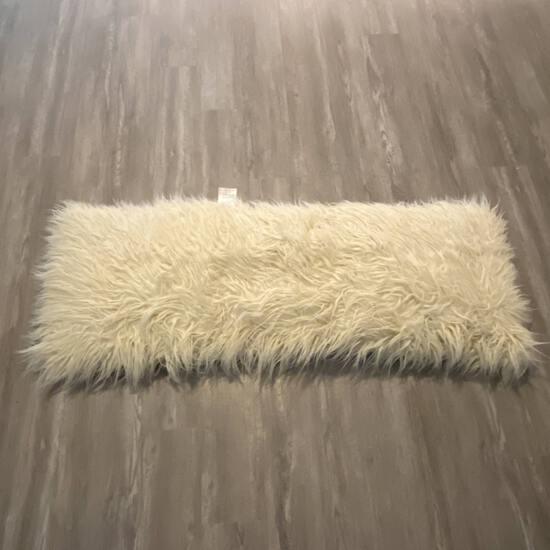 Long Faux Fur Body Pillow