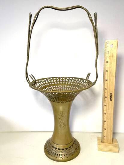 Antique Apollo Sheffield Nickel Silver Basket/Vase