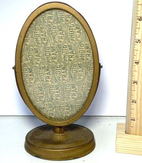 Antique Oval Photo Frame Stand