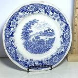 Vintage Silverdale Hanley Blue & White Small Plate Made in England