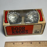 Pair of New Old Stock Vintage Glass Door Knobs From Taylor Lock Co. In Original Box