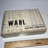 Vintage WAHL Electric Massage Vibrator in Original Box