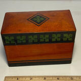 Small Vintage Wooden Divided Card Box