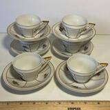 Set of 6 Each Vista Alegre VA Demitasse Cups & Saucers Made in Portugal