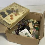 Large Lot of Vintage Buttons - Great Variety!